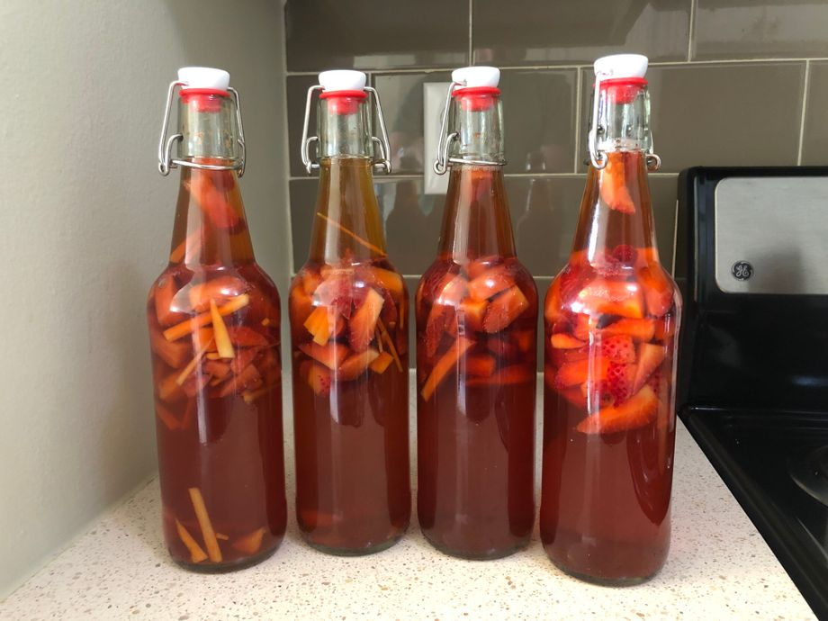 Third bottling due to a strawberry sale.