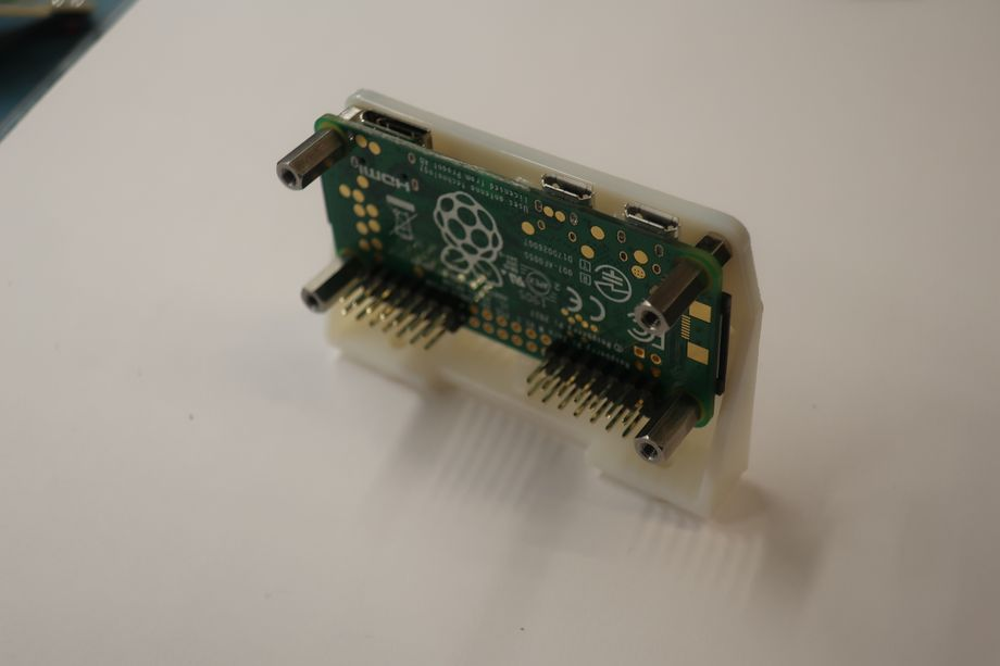 The pi with the backplate attached.